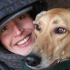 Gemma Rogers and her dog Woody