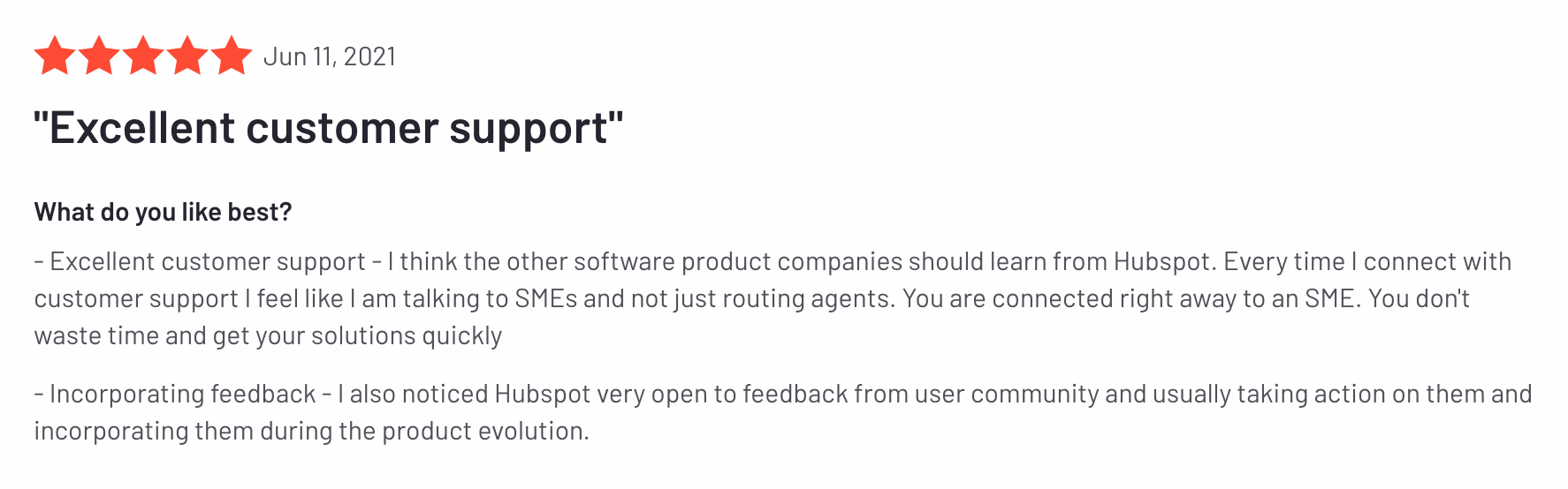 Review of HubSpot and their customer support