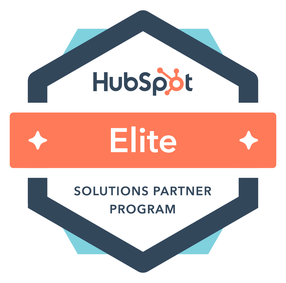 HubSpot Solutions Partner Elite status badge