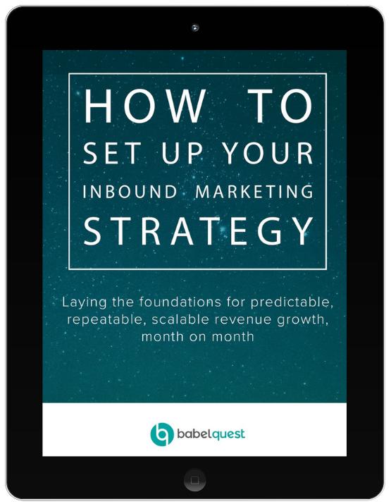 Inbound marketing strategy ebook