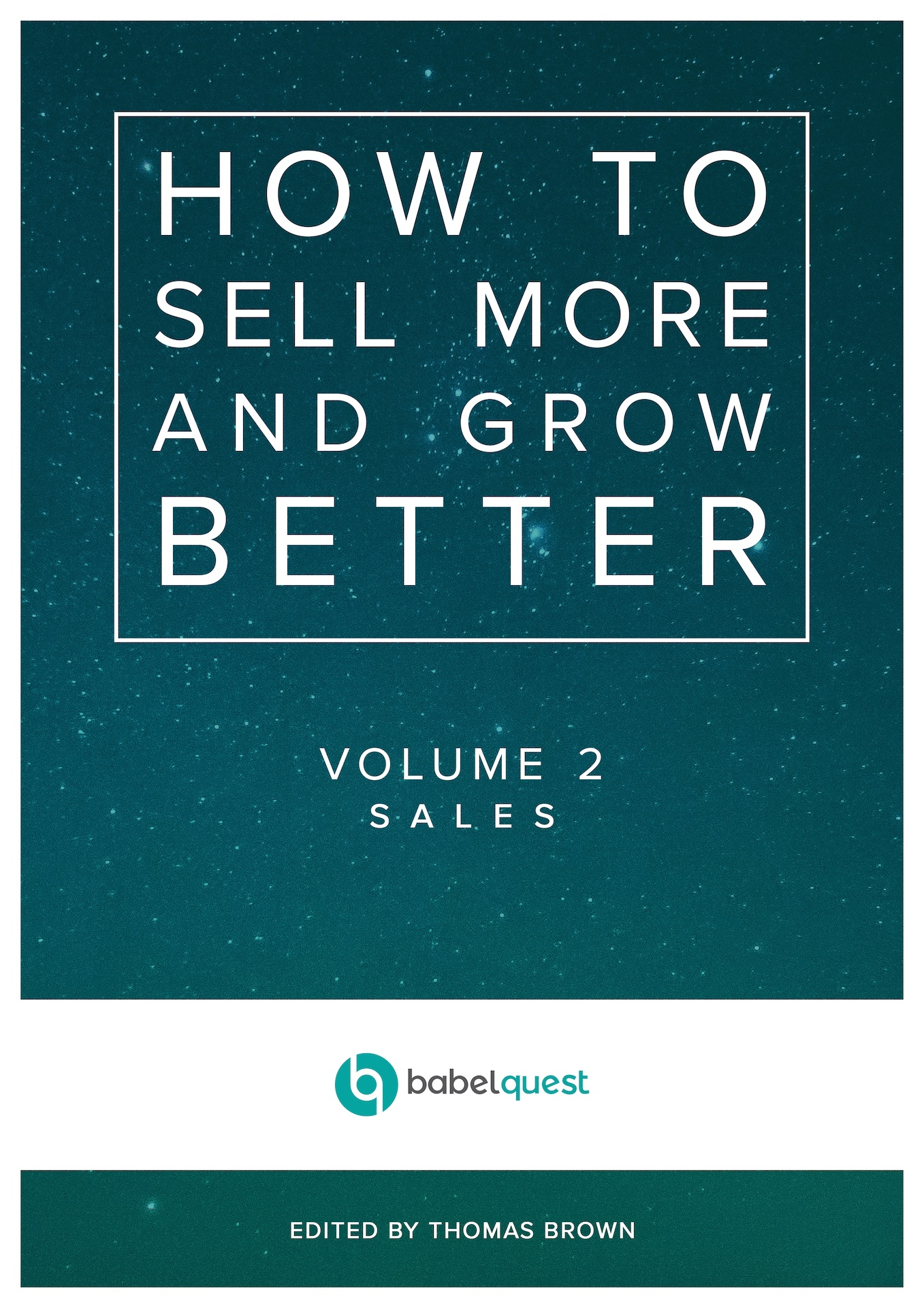 Sales ebook cover