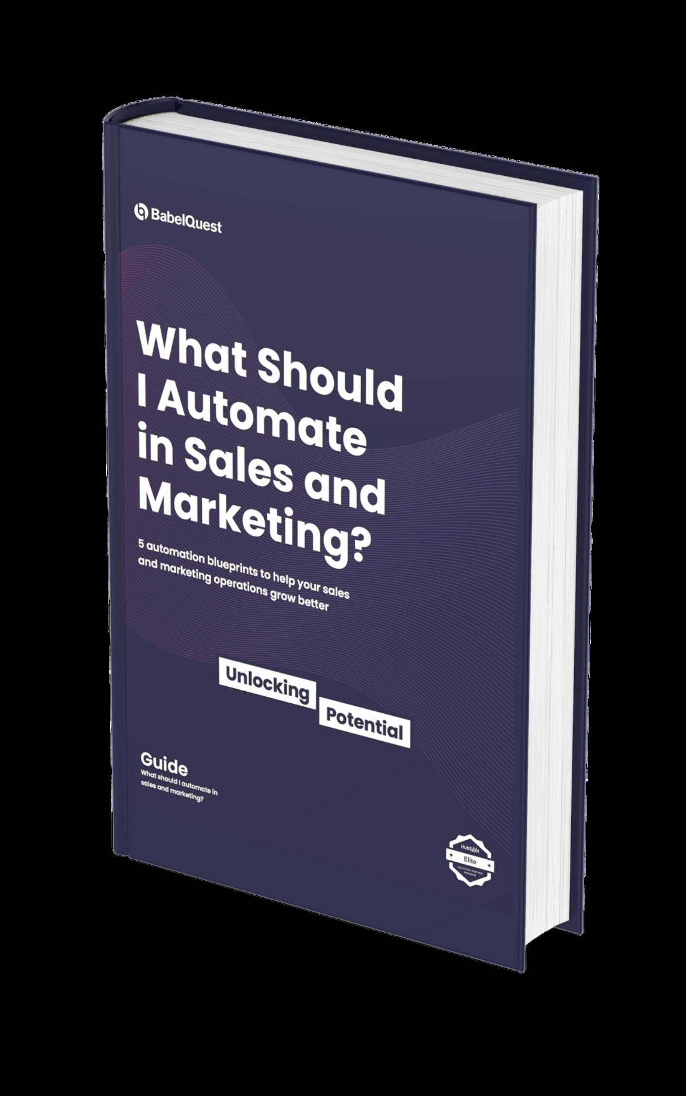 Sales & Marketing Automation Blueprints